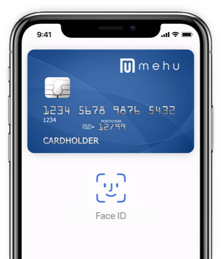 Phone with virtual card example